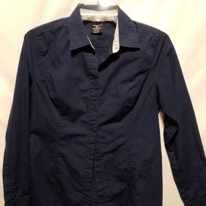 Navy blue button-up shirt